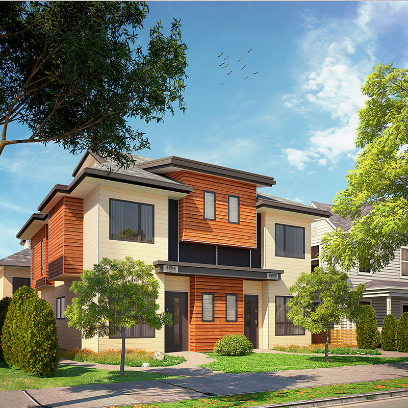 Waterfront Townhome Boasts Cool Urban Style: Townhome Urban Townhouse Development Project By Jordan